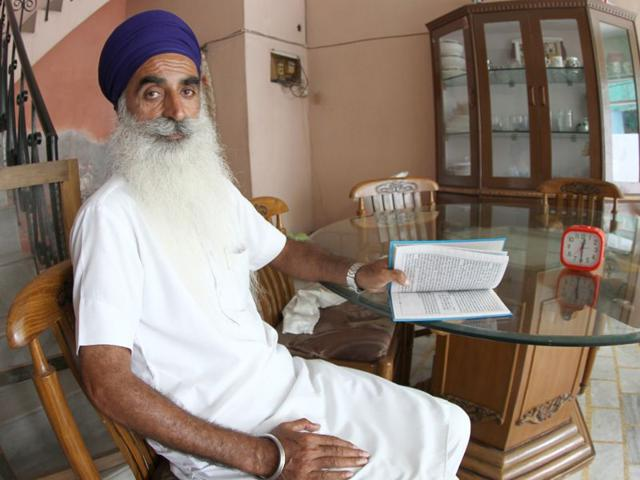 Gian Singh Leel, 53, now lives a quite life in his native village Leel, 17 km from Ludhiana. Gurpreet Singh/HT