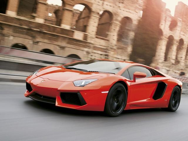 Lamborghini Aventador - $39,7500 : With 700hp on tap, a top speed in excess of 200mph and loud styling, the flagship Lamborghini is already one of the fastest and most striking cars on sale today. Photo:AFP