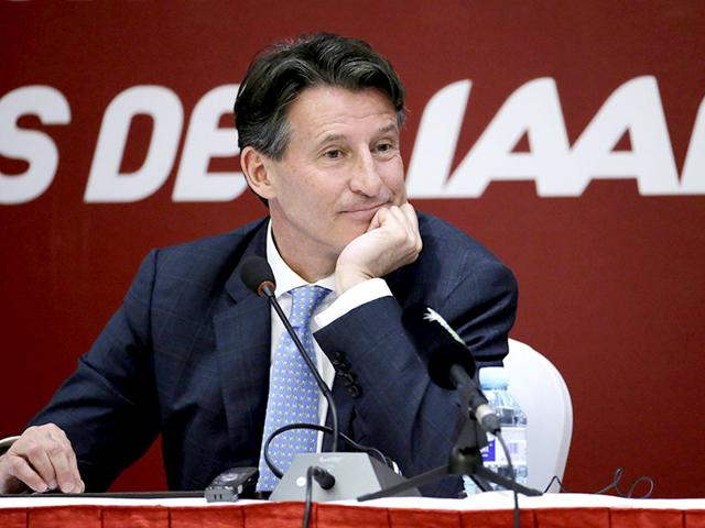 Newly elected President of International Association of Athletics Federations Sebastian Coe listens to a question at a news conference in Beijing. (Reuters)