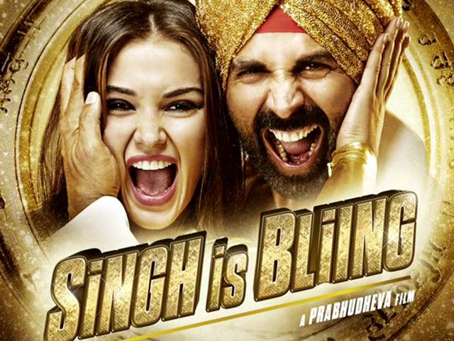 Akshay Kumar in a poster of Singh is Bling.