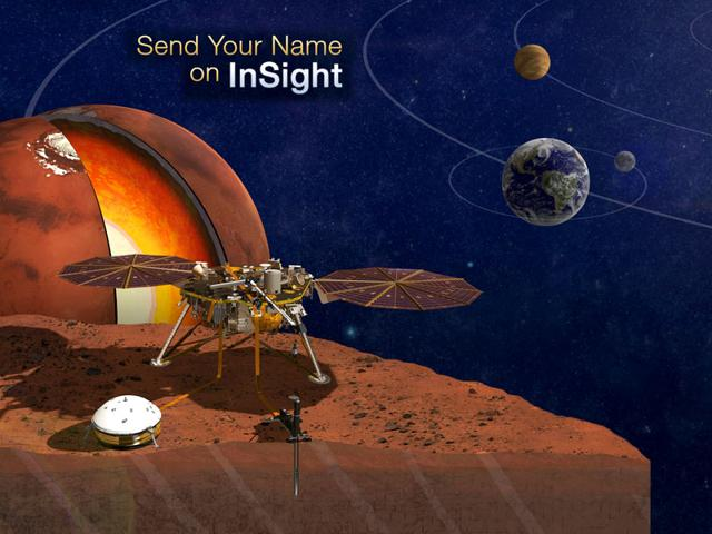 Nasa,Send your name on InSight,Mars