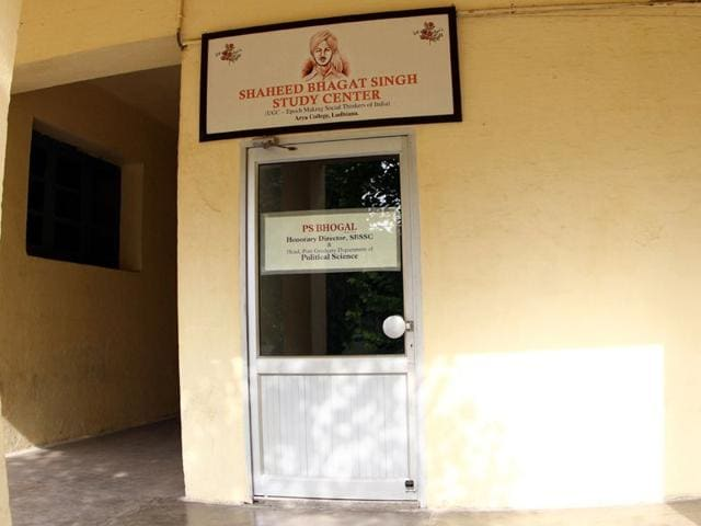 Shaheed Bhagat Singh Study Centre (SBSSC, established at Arya College. is the second of its kind in India, the first being in BR Ambedkar University, Aurangabad in Maharashtra. Gurpreet Singh/HT