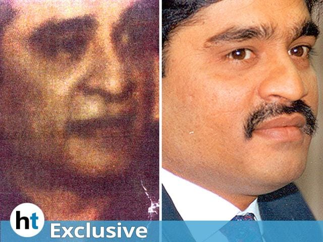 A combination of two photos of Dawood Ibrahim. The one on the right is a file photo, while the one on the left -- in possession of Indian security agencies -- shows how the underworld don looks like nowadays. (HT Photos)