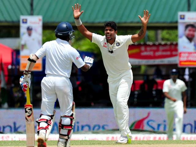 Seventy two percent of Umesh Yadav's  (centre) 58 Test wickets have come with the old ball.