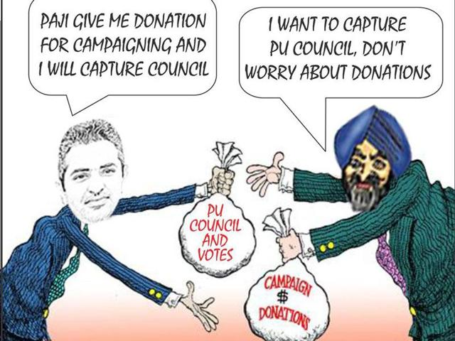 NSUI, which is the student wing of Cong, has launched a series of cartoons ridiculing SAD