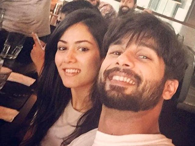 Shahid and Mira Kapoor post a honeymoon selfie.