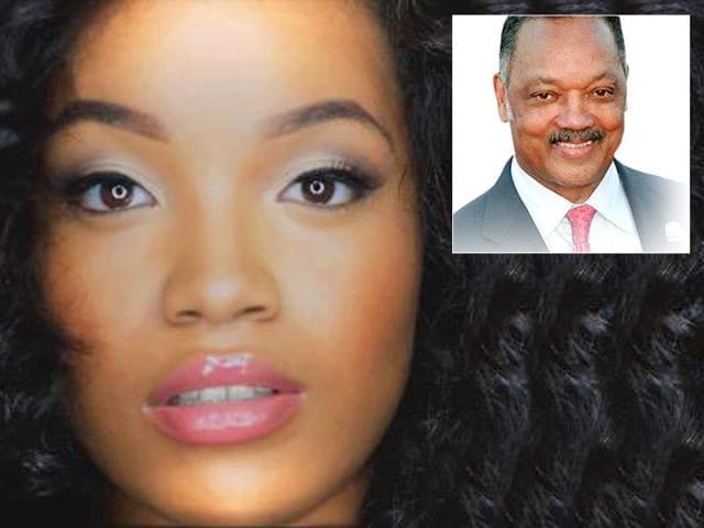 Ashley Jackson is the daughter of civil rights activist Rev Jesse Jackson and political scientist Dr Karin Stanford. (RealAJae/Twitter | RevJJackson/Twitter)