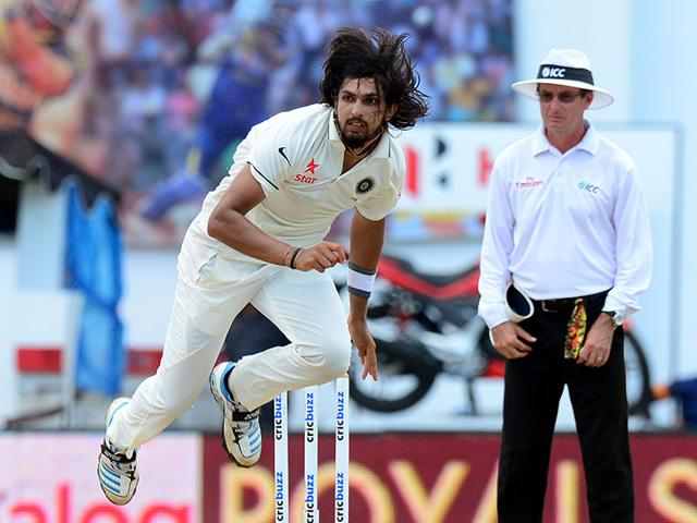 Ishant Sharma bowls during the first session of play. (AFP Photo)