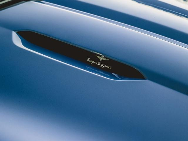 A close up of the Touring Superleggera badge : 'A customer approaches us because he has a desire to have his car transformed,' explains company CEO Piero Mancardi. In the case of the Touring Berlinetta Lusso it was a passionate Ferrari collector who wished to have his Ferrari F12 dressed up. Photo:AFP