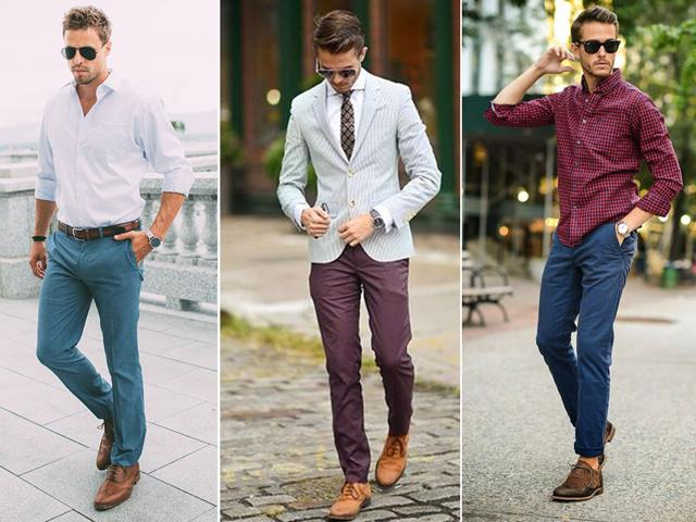 When you look for a chino, most importantly look for a fitted style, no bagginess around the hips, no excess fabric in the rise and the butt area and no front darts. (Pinterest photo)