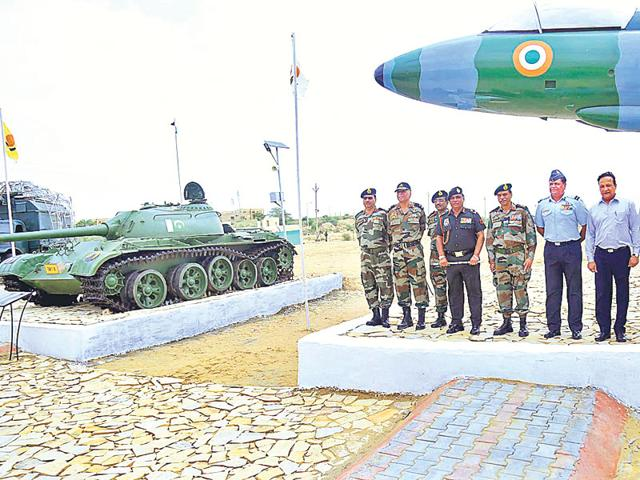 The Jaisalmer War Museum being inaugurated by Lt General Ashok Singh, Army Commander Southern Command, on Monday. (HT Photo)