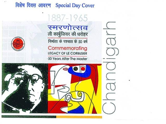 Le Corbusier,Indian Postal Department,postal covers