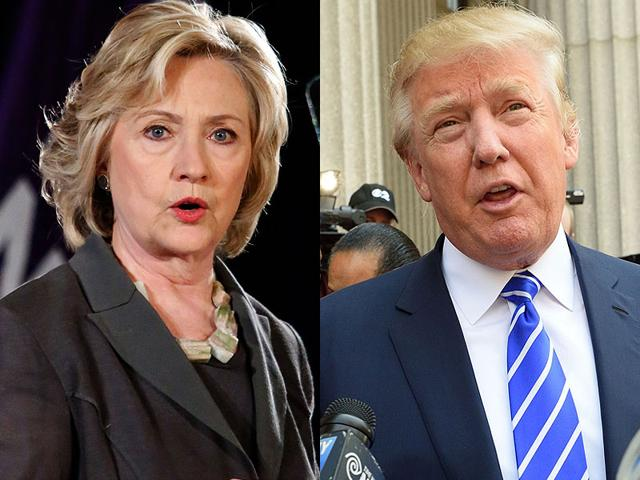 Donald Trump,Hillary Clinton,US polls