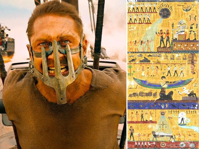 Witness this! Incredible Mad Max: Fury Road hieroglyph art. (Twitter)