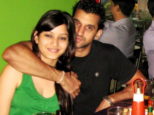 Sheena Bora with Peter Mukerjea's son Rahul Mukerjea. (Photo courtesy- Sheena Bora's Facebook page)