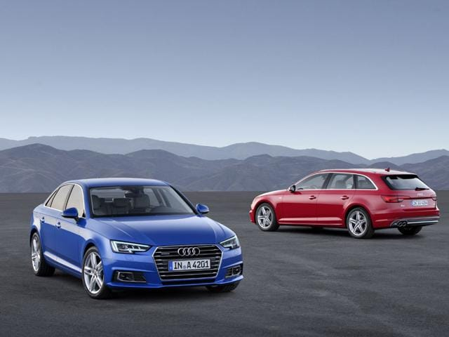 The next generation of Audi A4 and A4 Avant will be available for purchase beginning in October. Photo:AFP