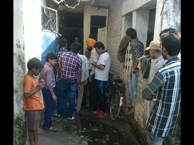 Panchkula murder site. (HT Photo)
