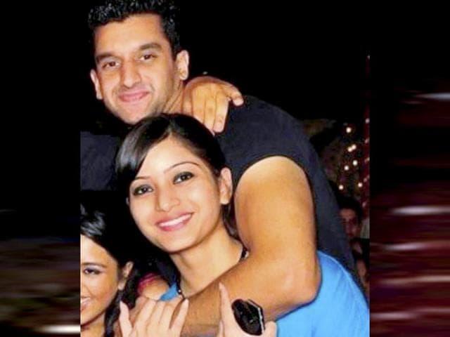 A file photo of Rahul Mukerjea and Sheena Bora. (PTI Photo)