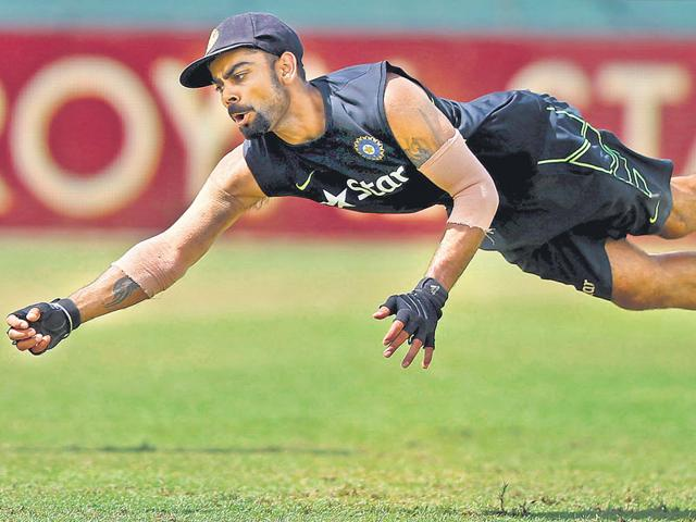 Test skipper Virat Kohli's finishing prowess will be tested as India look to end their 22-year wait for a series win in Sri Lanka, in the third Test starting in Colombo, on August 28, 2015. (Reuters Photo)