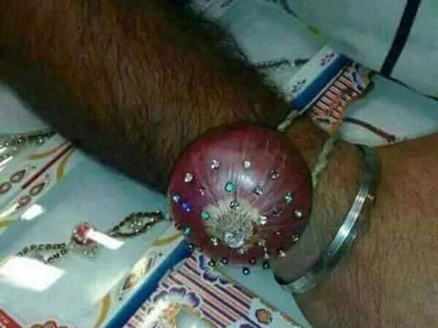 Onion humour dominated Facebook, Twitter and messaging apps even as the nation celebrated Raksha Bandhan. Photo Courtesy Facebook.