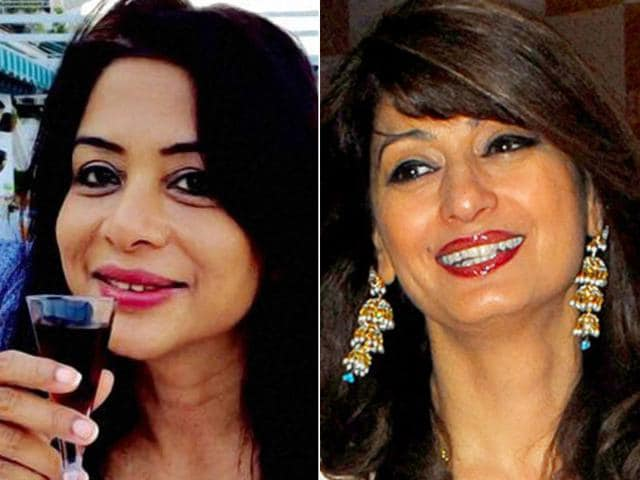 The media's tenour in the Sheena Bora muder case is eerily similar to that of the coverage after Congress leader and then minister Shashi Tharoor's wife Sunanda Pushkar was mysteriously found dead in a hotel room in 2014. In the photo, Indrani Mukerjea (left) and Sunanda Pushkar (right).(File photos)