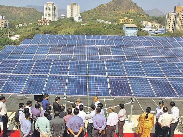 Solar power will be among the biggest contributors to enhanced green power in the country. (HT Photo/Praful Gangurde)