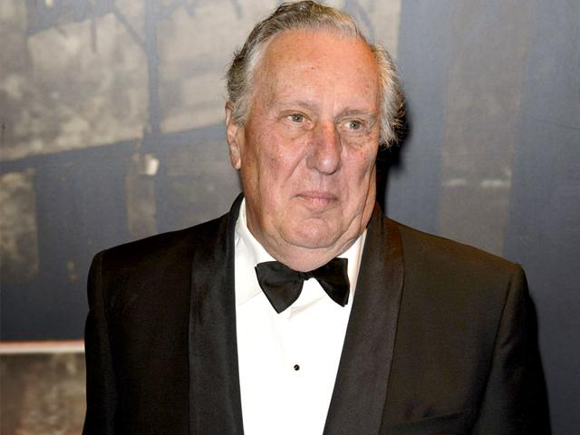 Frederick Forsyth attends the Specsavers Crime Thriller Awards at The Grosvenor House Hotel on October 24, 2013 in London, England. (File Photo/Getty Images)