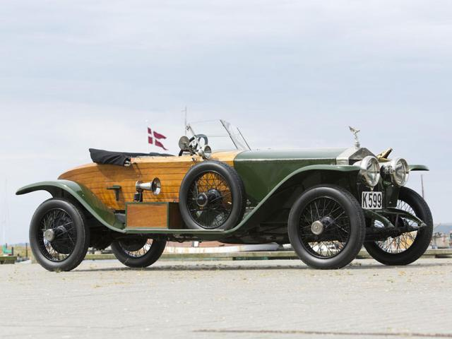 A 1914 Rolls-Royce 40/50 Silver Ghost Skiff. Photo:AFP