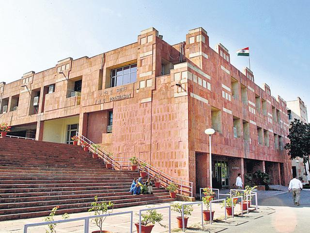 File photo of JNU administrative building. (Ajay Aggarwal/HT file photo)