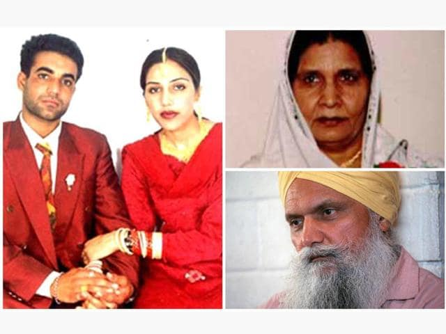 NRI Jassi with husband Jassi. She was killed by men allegedly hired by her mother Malkit Kaur (top right) and uncle Surjit Singh Badesha.