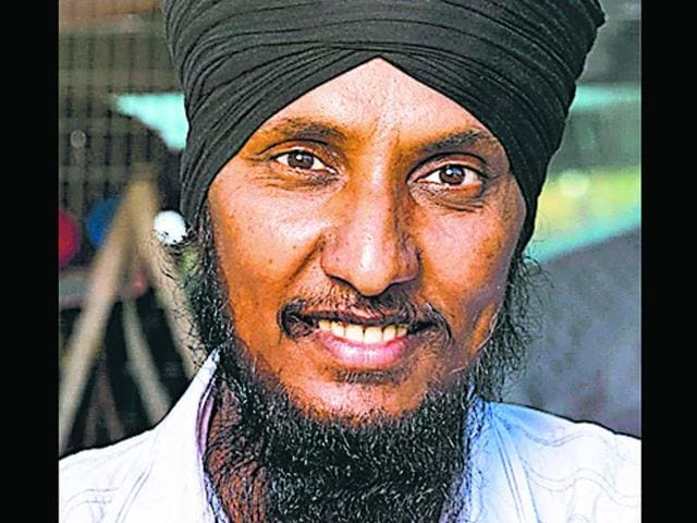 Tejinder Pal Singh was honoured with the title of 'Australian of the day' for his service to the community. (HT Photo)