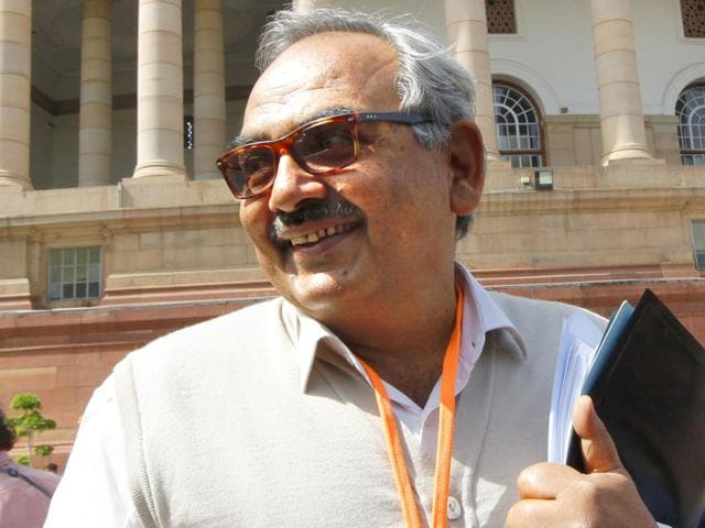 Union home secretary Rajiv Mehrishi (Arvind Yadav/ HT Photo)