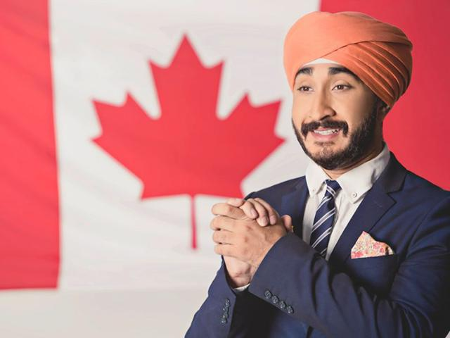 YouTube comedian Jus Reign posing as Bobby Dhaliwal gave the Huffington Post Canada (Photo courtsey: Official Twitter account)