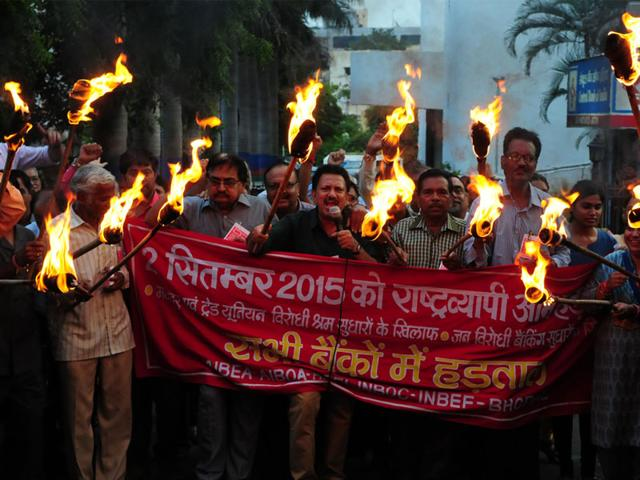 Business of over Rs 400 crore affected in Indore as bank employees go on strike