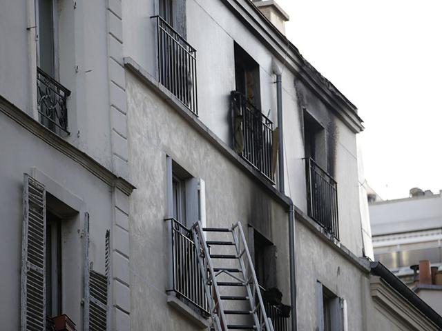A fire in an apartment building in Paris killed eight people, including two children, according to police sources. (AFP Photo)