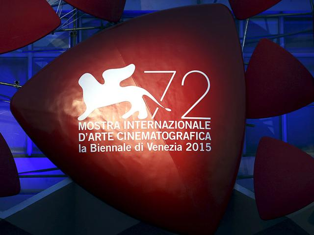 The 72nd Venice Film Festival logo is pictured the entrance of the venue in Venice, Italy, September 1, 2015. The Venice Film Festival will run from September 2 until September 12. (Reuters)