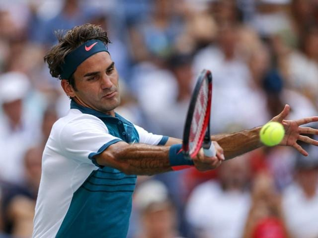 Roger Federer in action during a 2015 US Open match in New York. (AFP Photo)