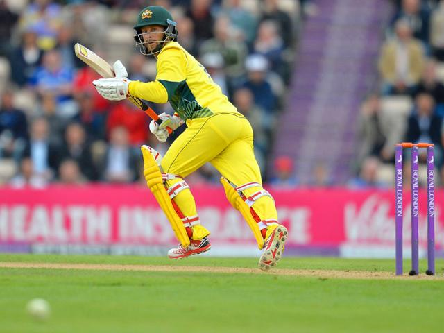 Australia's Matthew Wade in action during the first ODI between England and Australia at The Ageas Bowl cricket ground in Southampton, England on September 3, 2015. (AFP Photo)
