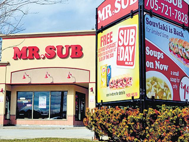 Mr Sub,Quiznos,Subway