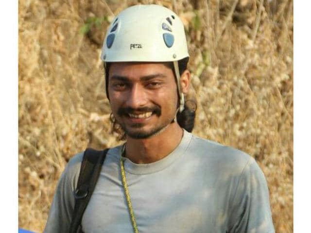 Richard Joseph Kher fell down in 250 metre deep gorge from a cliff while attempting to climb the Kistel peak in the Miyar Valley in Lahual and Spiti on August 29. (HT Photo)