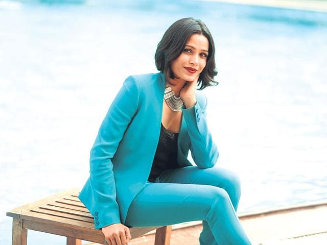 Hollywood actor Freida Pinto. (Photo: Raajesh Kashyap/HT)