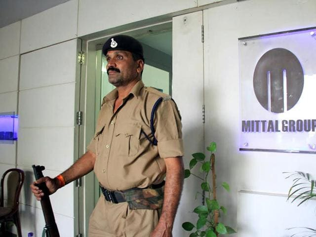 Investigation wing of the I-T department searched properties of the Mittal group in Indore. (Arun Mondhe/HT photo)