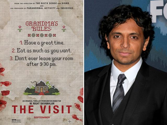 Disgraced director M Night Shyamalan returns with his new film The Visit. (Shutterstock/Twitter)