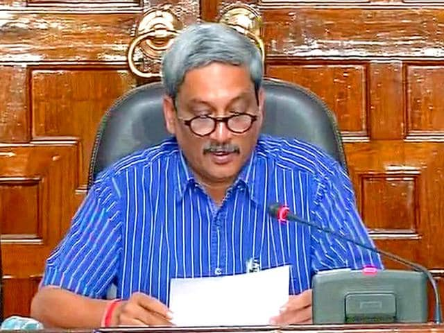 Defence minister Manohar Parrikar announced one rank one pension scheme for ex-servicemen. (ANI Photo)