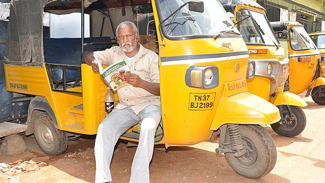 M Chandrakumar is a Coimbatore-based auto-rickshaw driver and author. With several books and a hit movie to his credit, Chandrakumar is exploring the scriptwriting profession in Tamil cinema.