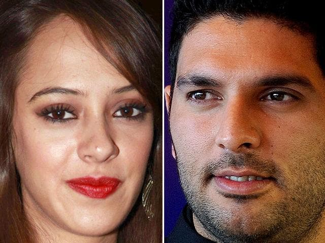 Rumours are doing the rounds that the Indian cricketing heartthrob, and British model-turned-actor, Hazel Keech are dating. (Agencies and Twitter)
