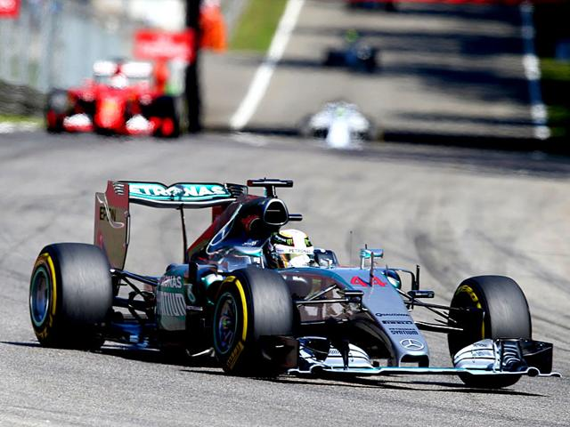 Mercedes driver Lewis Hamilton in action during the Italian Grand Prix at the Monza racetrack in Italy on September 6, 2015. (AP Photo)