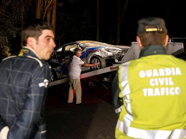 Car rally accident,Rally car crashes into crowd,Spain