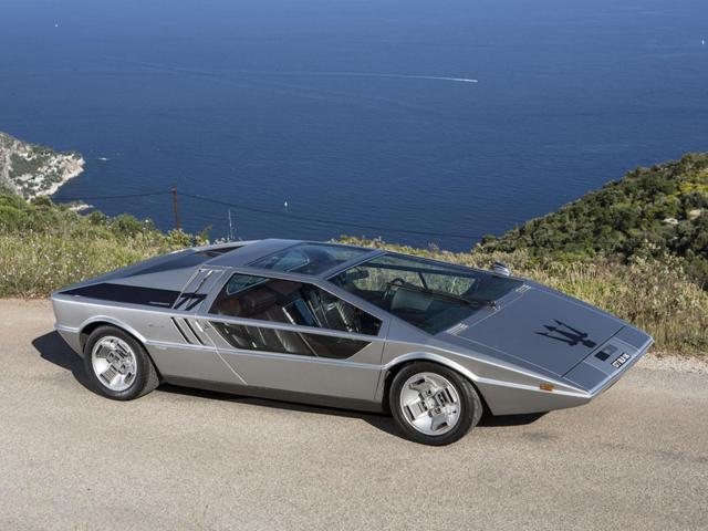 The 1972 Maserati Boomerang Coupé was auctioned for 3,289,500 euros. Photo:AFP