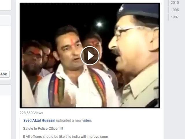 A screen shot of the video which went viral. (Via Facebook)
